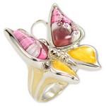 Bijuterii Murano - inel din argint fluture