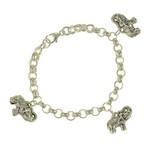 Bijuterii - bratara din argint cu elefanti