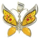 Bijuterii Murano - pandantiv fluture