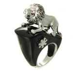 Bijuterii de lux: Inel din argint cu figurina leu