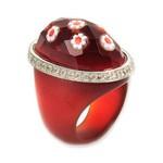 Bijuterii cu sticla de Murano: Inel din sticla de Murano rosu