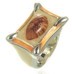 Bijuterii Murano Millefiori: Inel din argint cu sticla de Murano