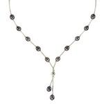 Bijuterii argint cu perle: Colier din argint cu perle negre