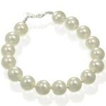 Bijuterii cu perle: Bratara din argint cu perle albe veritabile