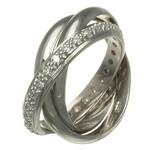 inel din argint placat cu rhodium