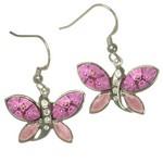 Bijuterii Murano: Cercei din argint cu Murano Millefiori roz