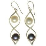 Bijuterii cu perle: Cercei din argint cu perle naturale