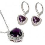 set bijuterii argint pietre semipretioase