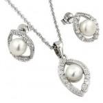 set bijuterii argint cu perle