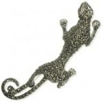 brosa din argint cu marcasite jaguar