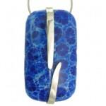 pandantiv argint coral albastru