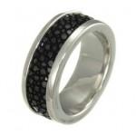 inel din argint cu piele de pisica de mare
