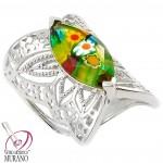 martisor argint inel Murano