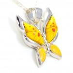 pandantiv fluture sticla de Murano