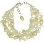 Bratara argint cu perle naturale, sidef, pietre haolit