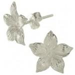 Cercei din argint model floare
