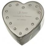 Caseta bijuterii inimioara pentru personalizare