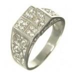 inel din argint rodiat pentru barbati