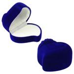 cutiuta bijuterii catifea albastra