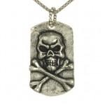 pandantiv cap de mort din argint
