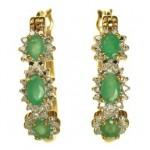 cercei cu pietre naturale smaralde