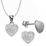 set inimioare argint