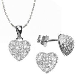 set bijuterii inimioare
