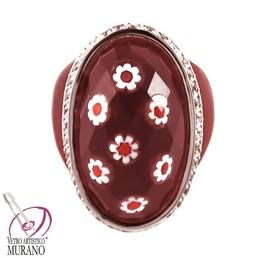 inel din sticla de Murano Millefiori