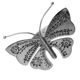 inel din argint fluture