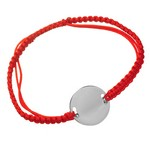 Bratara din argint cu snur rosu pentru personalizare