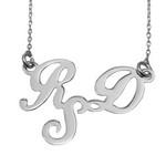Colier din argint personalizat cu initiale