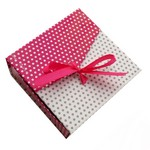Cutie bijuterii roz model buline