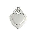 Pandantiv argint inimioare pentru personalizat