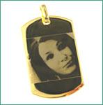 Cadouri personalizate - pandantiv placat cu aur